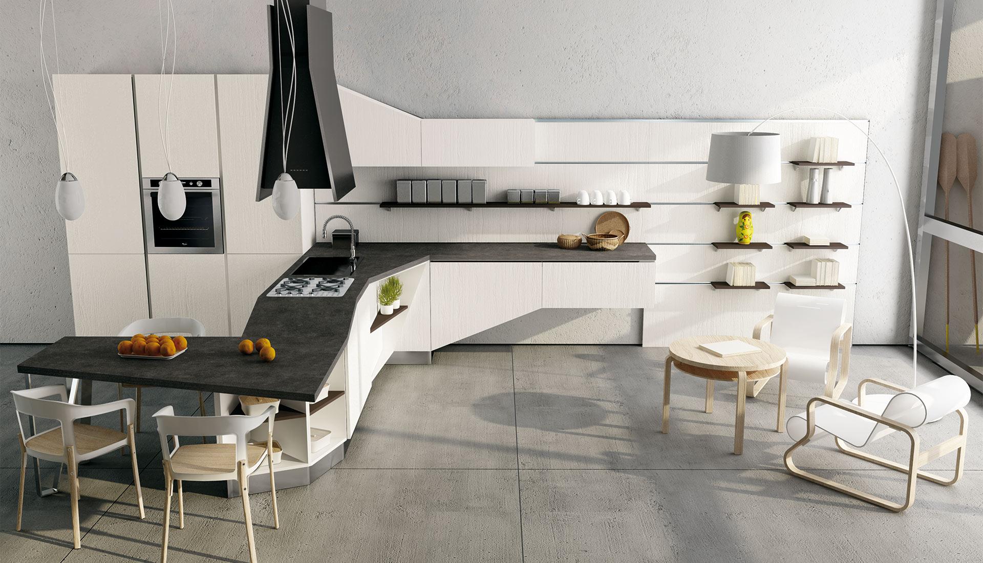 Nuova cucina asia versione con penisola gicinque cucine - Cucine moderne con penisola ...