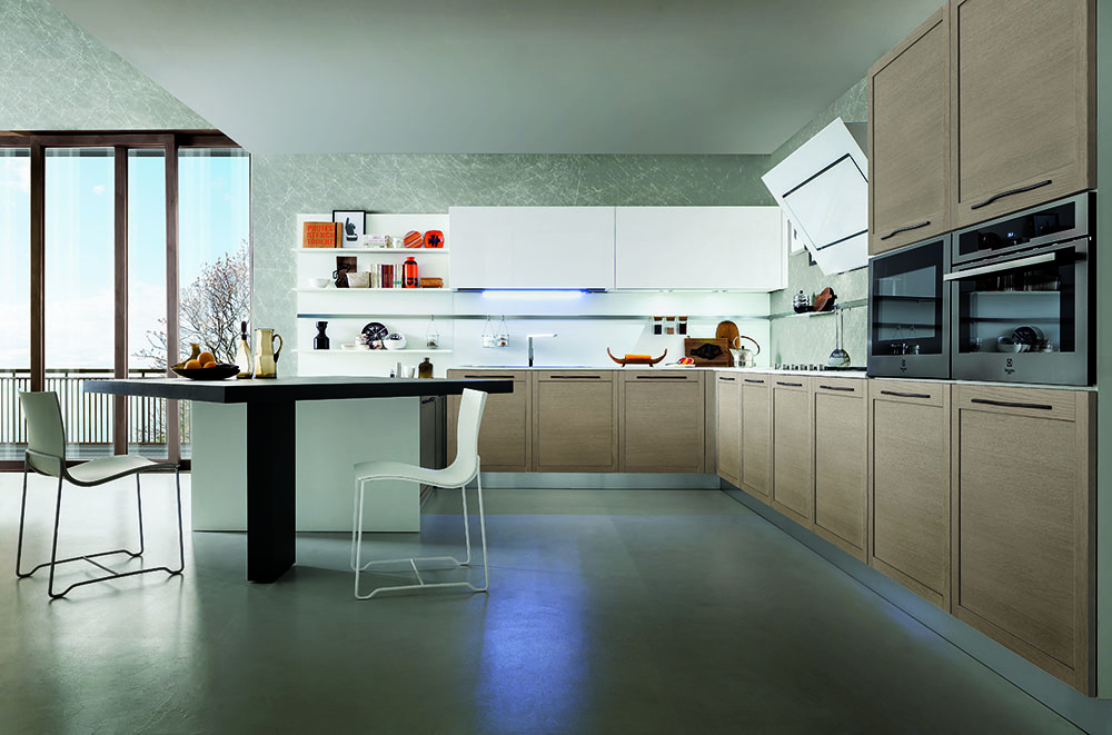 Cucina moderna oyster gicinque cucine for Pultrone arredamenti