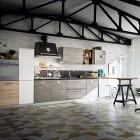 Cucina Oslo, nuove finiture Rovere Bianco Aspen e Rovere Marino