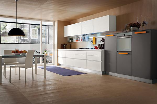 Cucina Oslo, nuove finiture Rovere Bianco Aspen e Rovere Marino ...