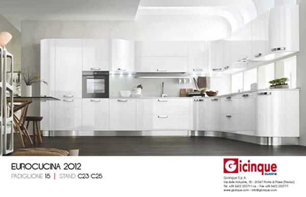 Gicinque al Salone del mobile di Milano '12…venite a scoprire le nostre nuove cucine!