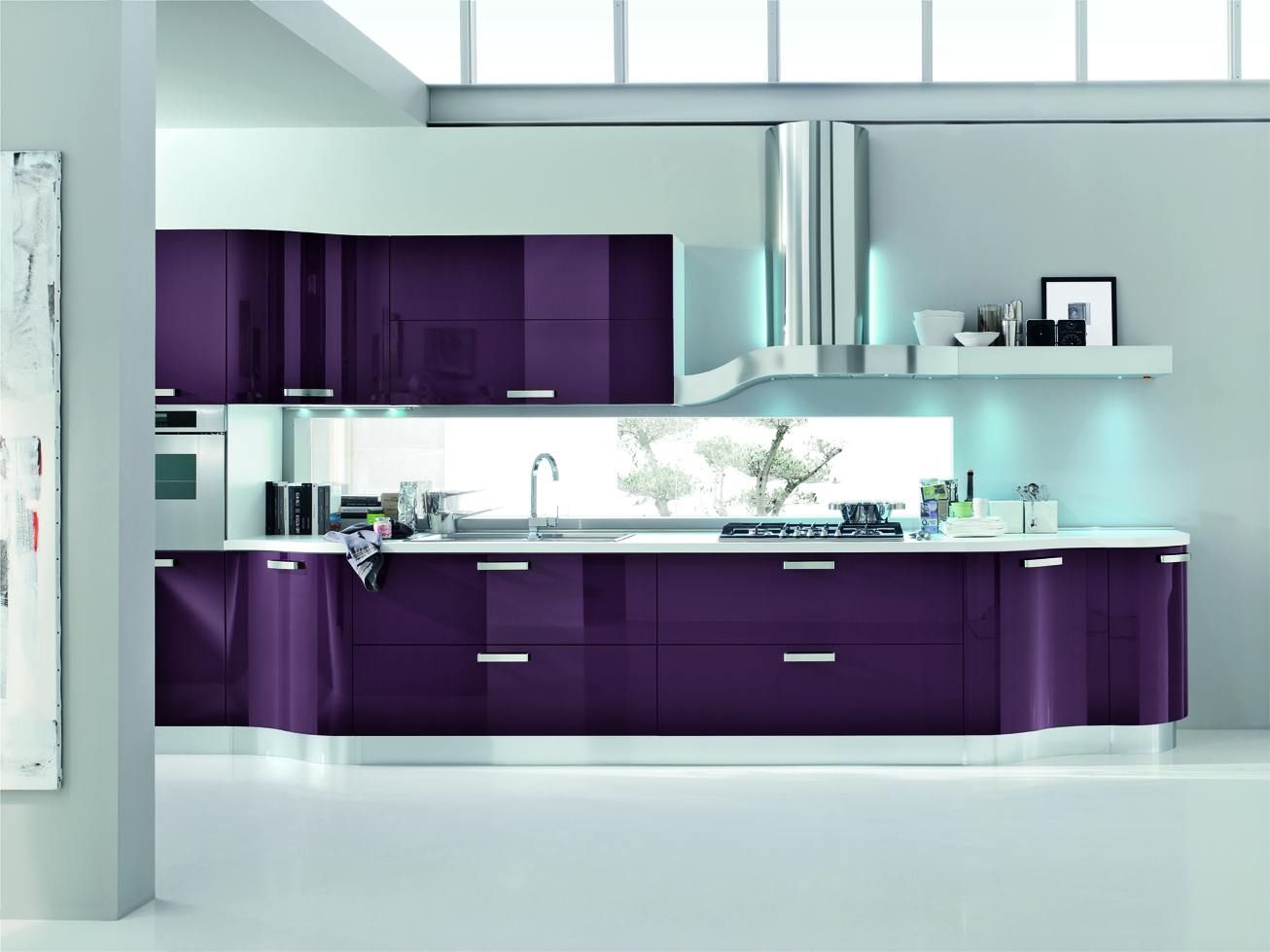 Kristal: wavy lines and softness of the shapes, for a touch of sophistication also in the kitchen