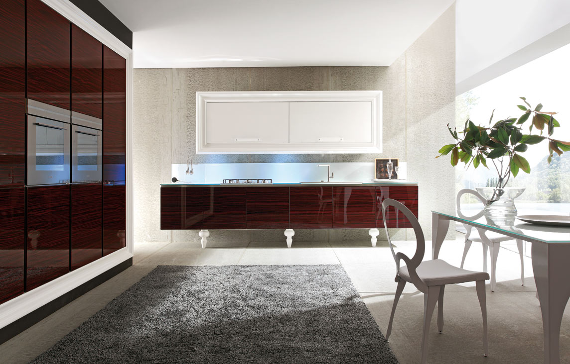 "Charme art deco: the kitchen with a touch of ""glamour"""