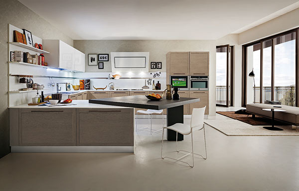 Oyster by Gicinque: the simplicity of the oak in the kitchen