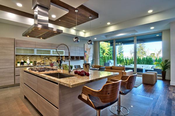 Cucina joy di gicinque arreda lussuosa villa in canada - Cucine lussuose moderne ...