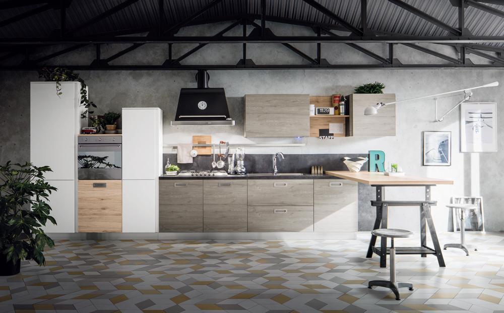 Una cucina stile urban gicinque cucine for Arredamento casa stile contemporaneo