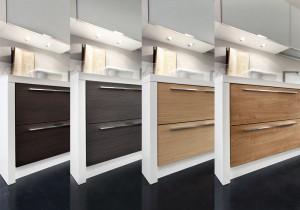 slim in diverse finiture di legno