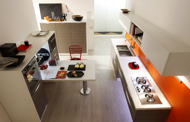 Onda, the new contemporary kitchen model of Gicinque