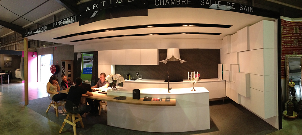 Gicinque kitchens at the exhibition Foire International de Montpellier